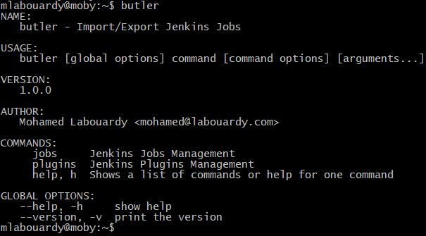 Butler CLI:Export/Import Jenkins Plugins & Jobs - Mohamed